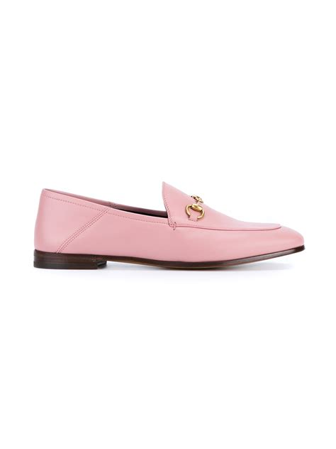 pink loafers gucci jordaan horsebit loafers in pink lyst