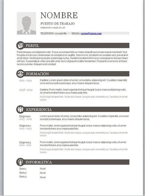 Plantilla Curriculum Vitae Para Rellenar Excel m 225 s de 1000 ideas sobre plantilla curriculum vitae en