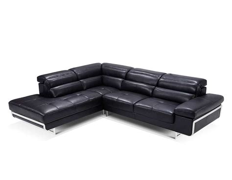 modern black leather sectional sofa ef347 leather sectionals
