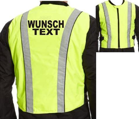 Motorrad Fahren Warnweste by Warnweste Motorrad Sicherheitsweste Neon Bedruckt
