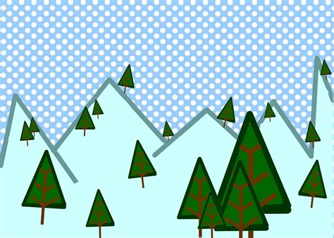 clipart montagna free illustration winter woods snow trees