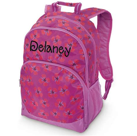 girls personalized backpack floral monogrammed school by