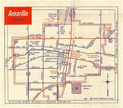 map of texas showing amarillo texas route 66 maps