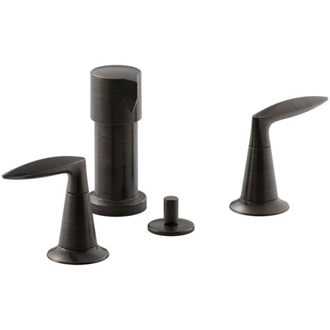 kohler oil rubbed bronze kitchen faucet kohler fairfax single handle pull out sprayer kitchen