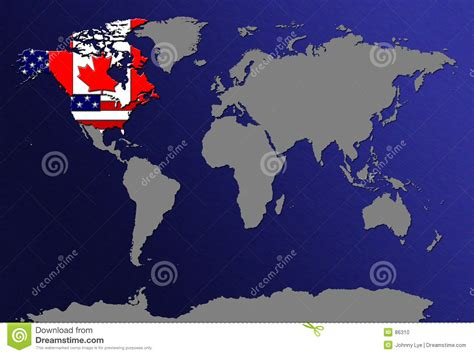 world map usa and canada world map with flags stock photo image 86310
