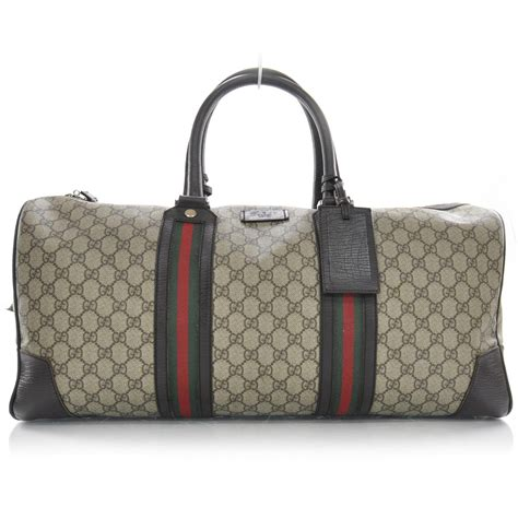 gucci monogram large web carry on duffle bag 27083