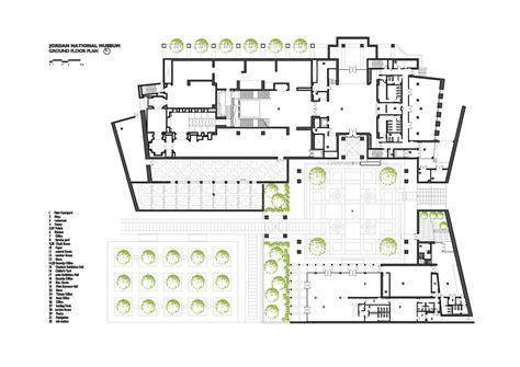 floor plan of museum jordan national museum ground floor plan archnet
