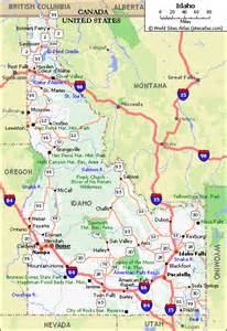 map with highways image gallery idaho highway map