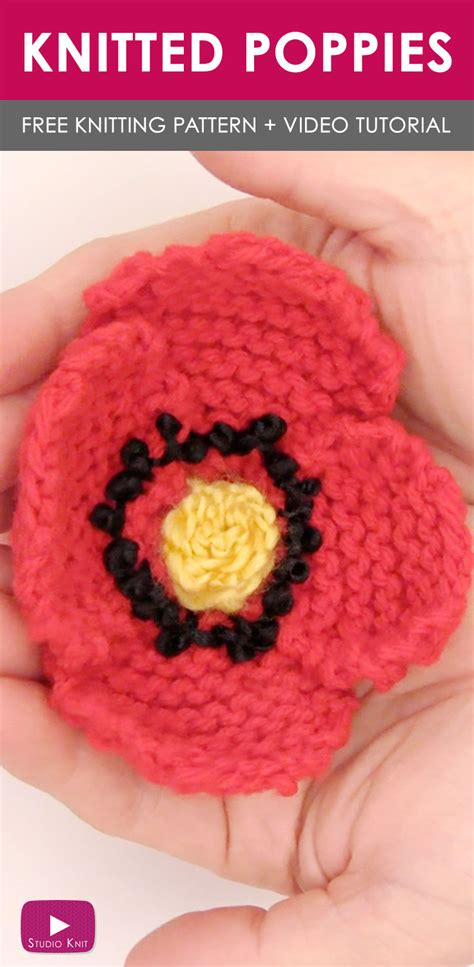 how to knit a poppy flower how to knit a poppy flower pattern with tutorial