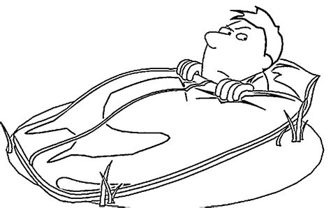 Cing Coloring Pages Sleeping Bag Coloring Page