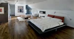 Interior Design For Small Apartments contemporary attic bedroom with an en suite bathroom