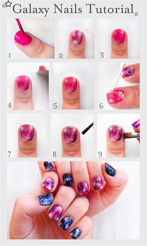 tutorial nail art galaxy 2015 nail art tutorials to do at home page 4 inspiring