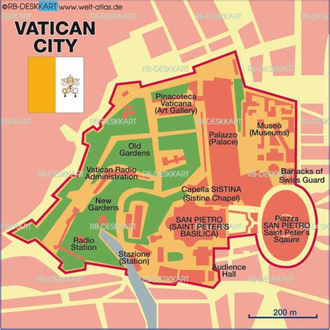 vatican city map in world vatican city map in world