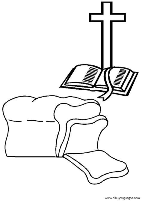 dibujos para colorear de la cruz dibujo de la biblia 042 biblia pan cruz dibujos y juegos