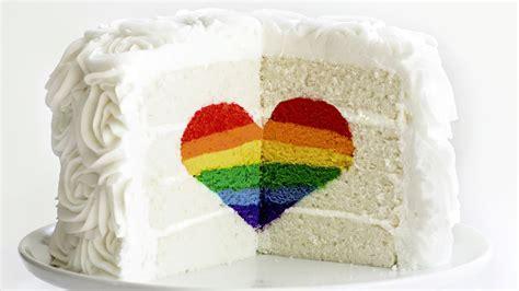 Basic Cake Decorating Rainbow Heart Cake Today Com