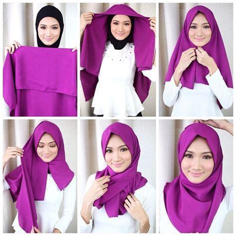 tutorial segi empat kekinian 17 best ideas about hijab tutorial on pinterest hijab