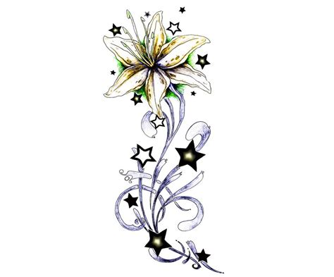 lily and stars tattoo designs 62 flowers ideas with meanings