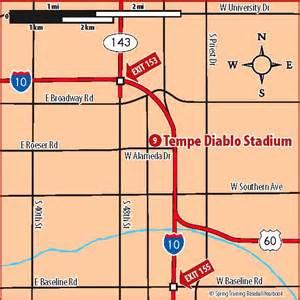 arizona map stadiums ballpark map