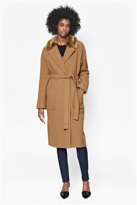 Wool Belted A Line Coat From Ms by Imperial Wool Belted Maxi Coat Jackets Coats