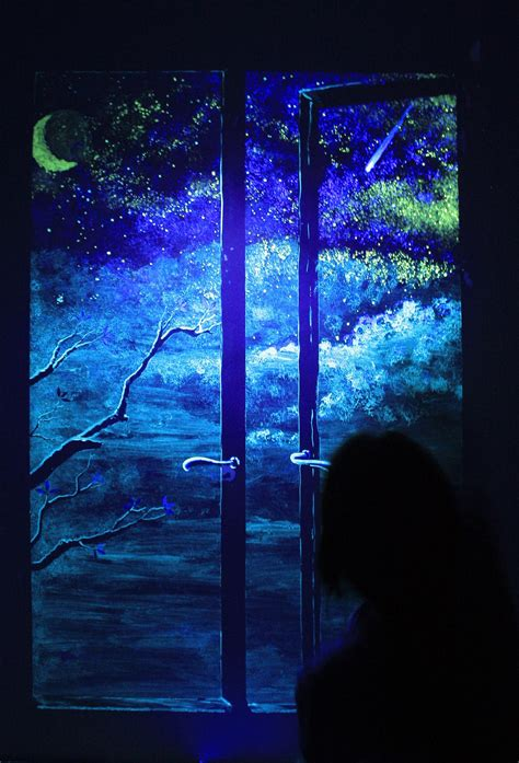 glow in the dark wall mural a window on the night in my dreams pinterest window
