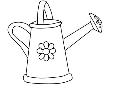 The Gallery For Gt Watering Can Drawing Can Coloring Page