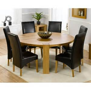 Circle Dining Table And 6 Chairs Globe Large 160cm Dining Table With 6 Venice Chairs