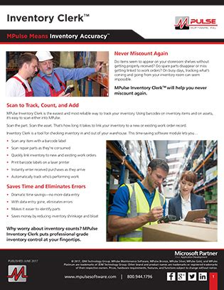 Inventory Clerk by Inventory Clerk Datasheet Shopping Cart Add On For Mpulse Software