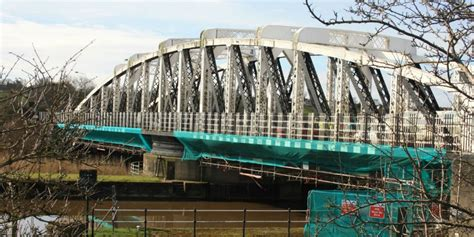 cheshires acton swing bridge  million repair project