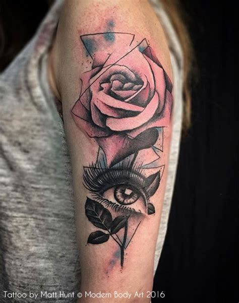 rose eye tattoo abstract and graphic tattoos by matt hunt birmingham uk