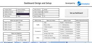 free excel dashboard template for web analytics leapthree