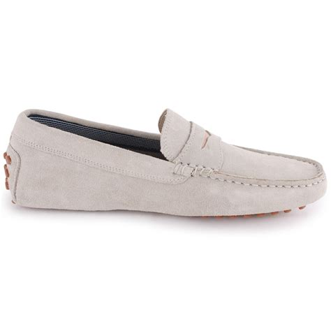 lacoste concours 13 mens suede moccasins light grey