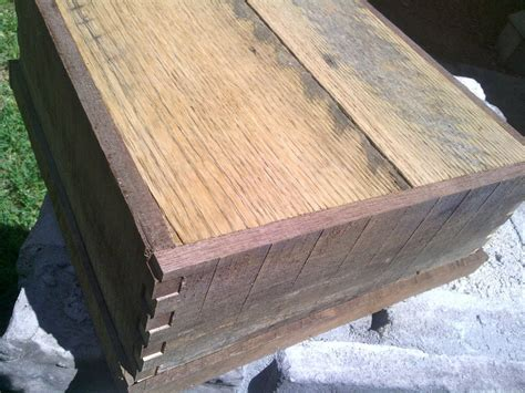 Buy a Hand Crafted Repurposed Walnut Barn Wood Box, made