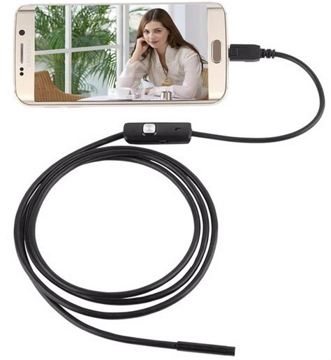 Android Endoscope Ip67 Waterproof For Smartphone And Pc Laptop 1 android 7mm endoscope 720p ip67 waterproof black