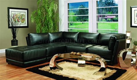 coaster leather sectional sofa kayson sectional sofa 5pc black bonded leather match by