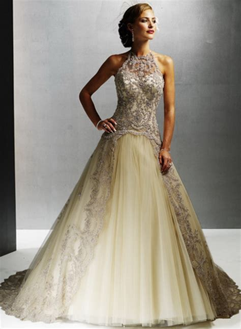 Farbige Brautkleider by Chagne Colored Wedding Dresses