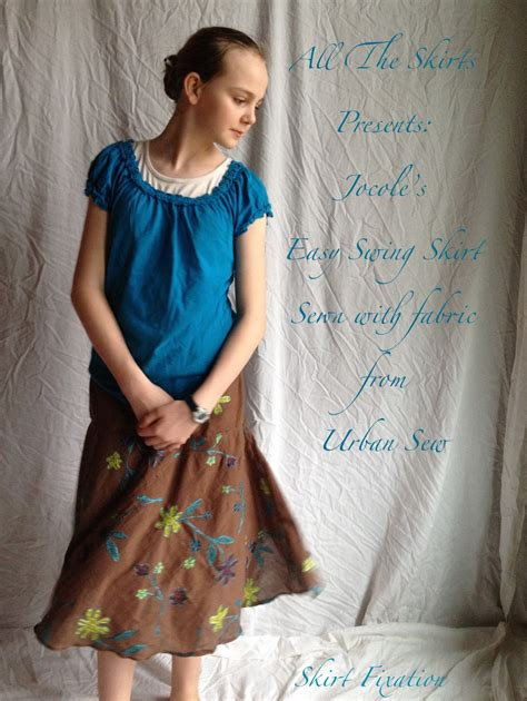 how to sew a swing skirt easy swing skirt all the skirts jocole urban sew