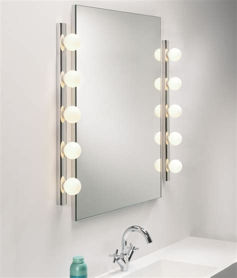 bathroom mirrors with lights uk dressing room mirror light opal glass globes