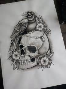crow skull tattoo drawing skulls tattoos pinterest