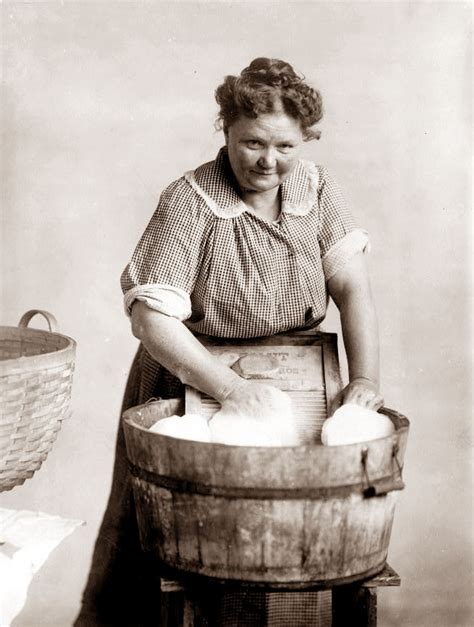 washing clothes in the bathtub old picture of the day woman with wash tub