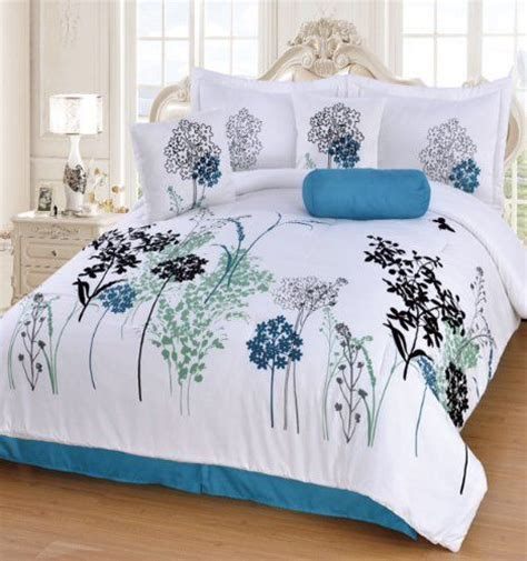 teal and white comforter turquoise queen size and grey and white on pinterest