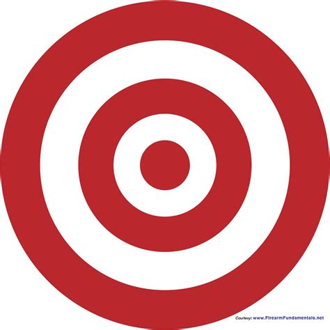 printable targets red bullseye d 233 finition what is