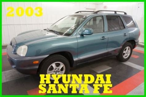 how to work on cars 2003 hyundai santa fe engine control buy used 2003 hyundai santa fe gls nice 4wd v6 one owner 60 photos must see in plymouth