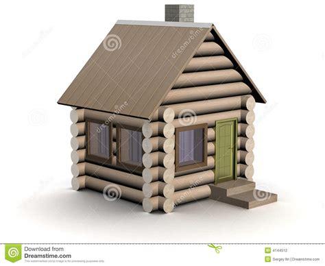 piccola casa piccola casa di legno l illustrazione isolata fotografia