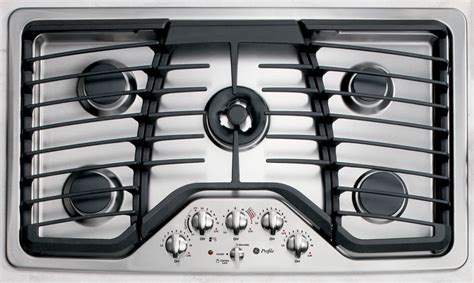 ge profile gas cooktop ge profile series pgp986setss 36 quot gas cooktop stainless