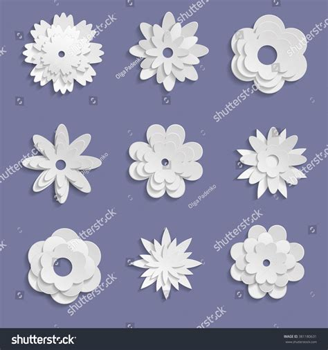 How To Make Paper Violets - paper origami flowers on violet background stock vector
