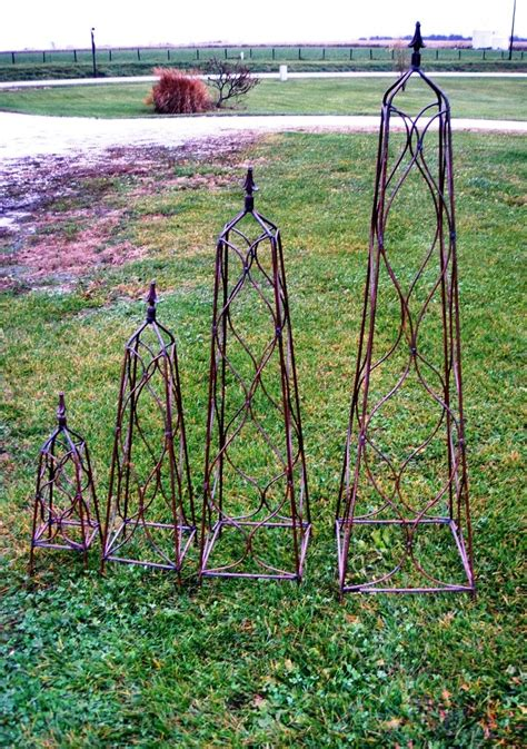 Garden Trellis Wrought Iron Square Finial Flower Trellis
