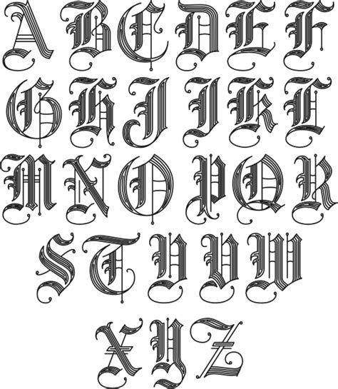 old english letters tattoos letters elaxsir