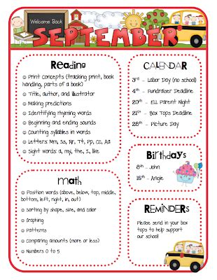 Mrs Ricca S Kindergarten Monthly Newsletters Tpt Store Monthly Classroom Newsletter Template