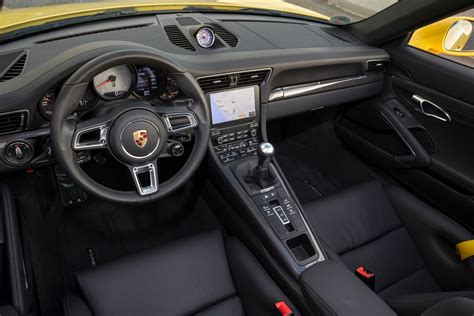 porsche carrera interior 2017 2017 porsche 911 first drive review motor trend