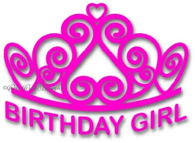 printable birthday girl crown birthday girl tiara svg
